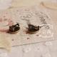 Mushroom Clip On Earring
