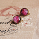 Pink Star Clip On Earring