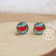 Watermelon on Blue Earring