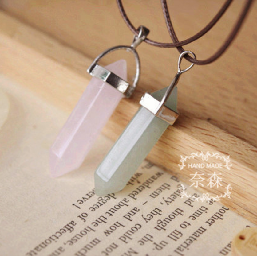 Natural Stone Jade  Pendent Necklace