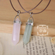 Natural Stone Pink Pendent Necklace
