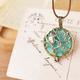 Owl Teal Bronze Scent Necklace