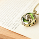 Rabbit Green Bronze Scent Necklace