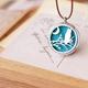 Owl Blue Scent Necklace