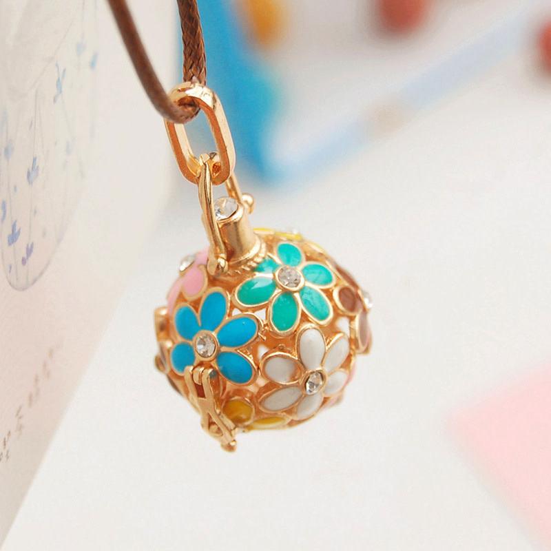Teal/Blue/Pink Gold Necklace