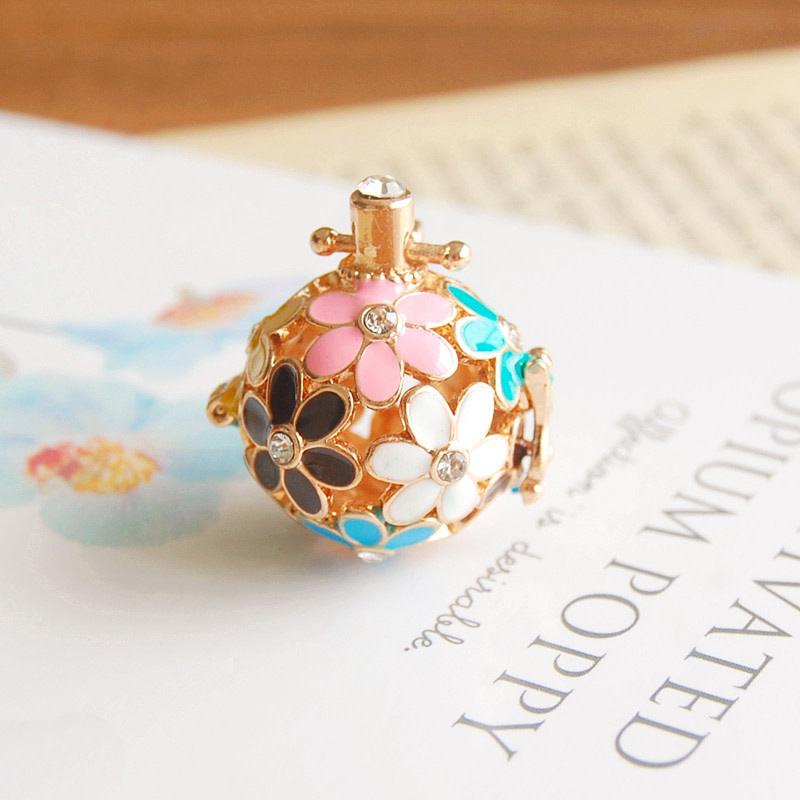 Pink/Blue/Black Gold Necklace