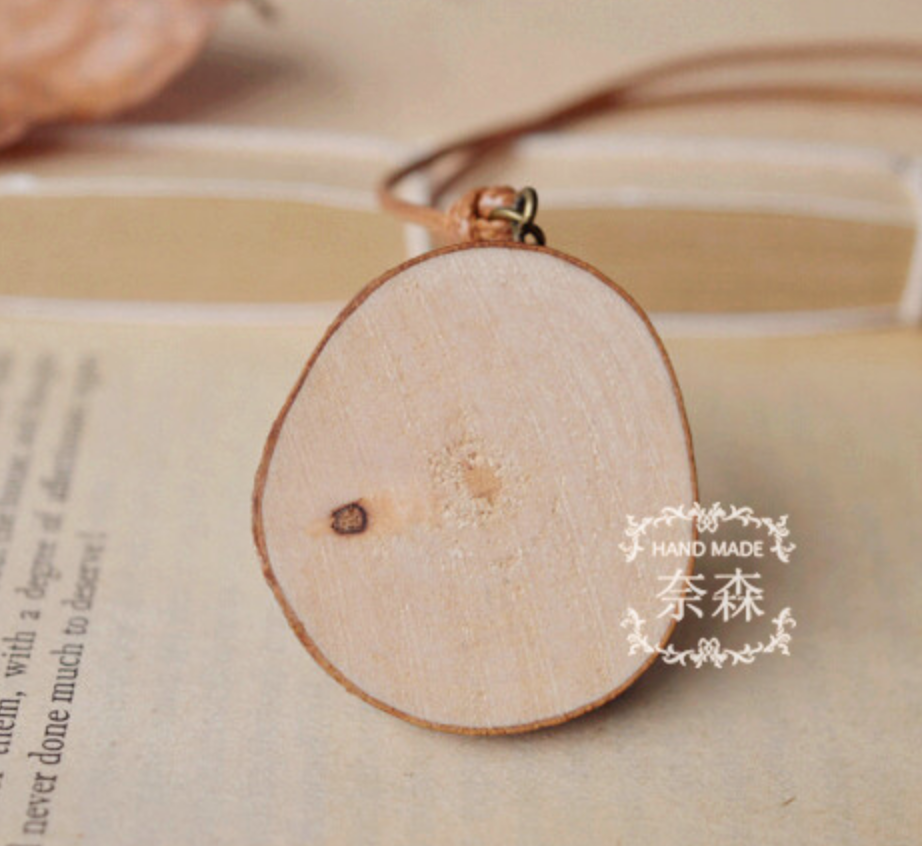 Totoro on Wood Necklace