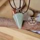 Hexagon Triangle Jade Stone Necklace