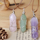 Stone Wire Wrapped Jade Necklace