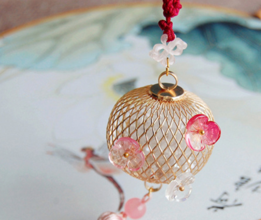 Red Gold Ball Net Decoration