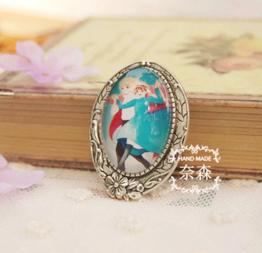 Howl's Moving Castle Silver Pin