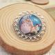 Totoro Silver Pin