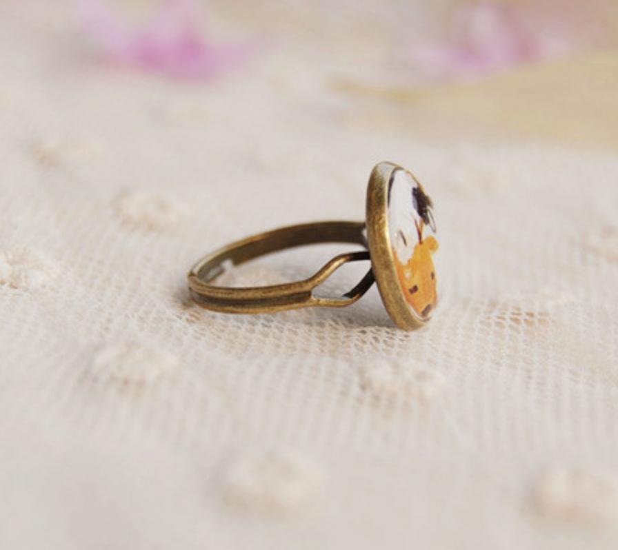 Deer Bronze Ring