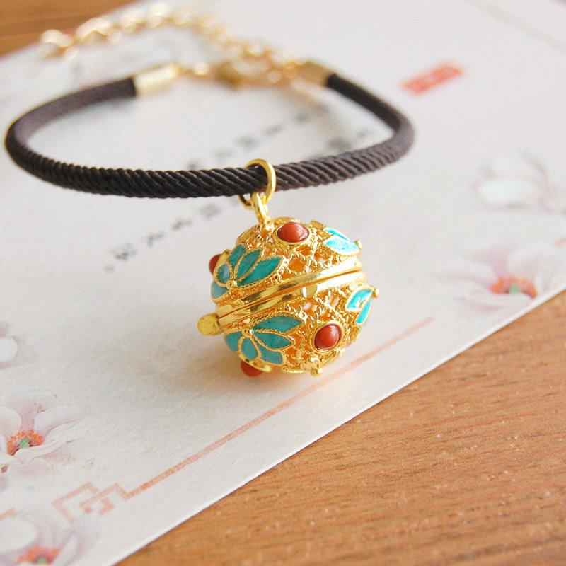 Teal/Red Gold Bracelet