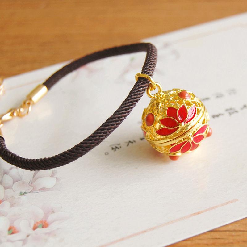 Red Lotus Gold Bracelet