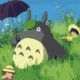 Totoro with Umbrella in Meadow DIY Painting