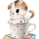 Cat in Polka Dot Mug DIY Painting