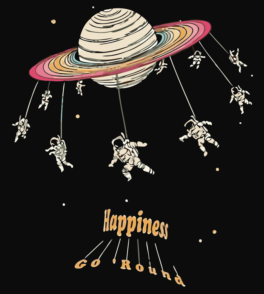 Happiness Go Round DIY Painting