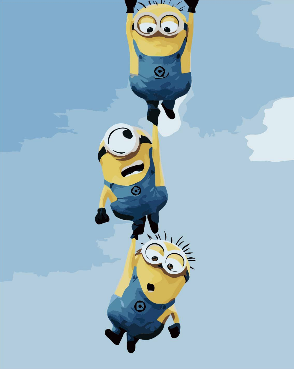 Minions Hanging DIY Painting