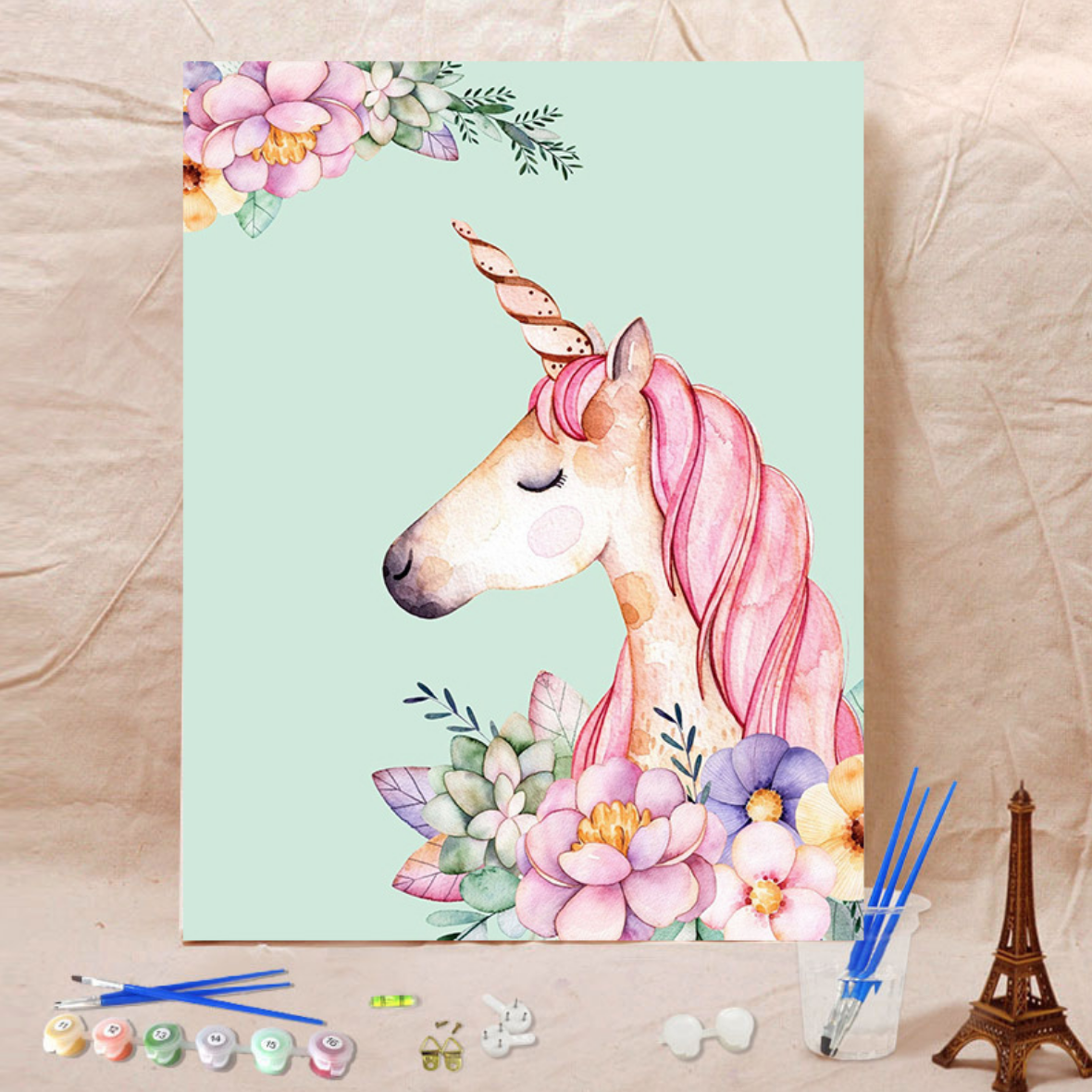 Pink Unicorn DIY Painting