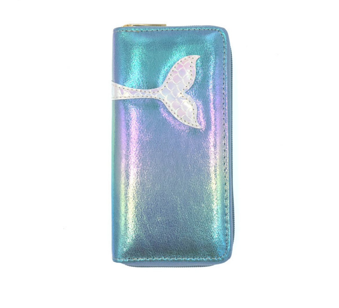 JR- 293 Mermaid Tail Blue Wallet