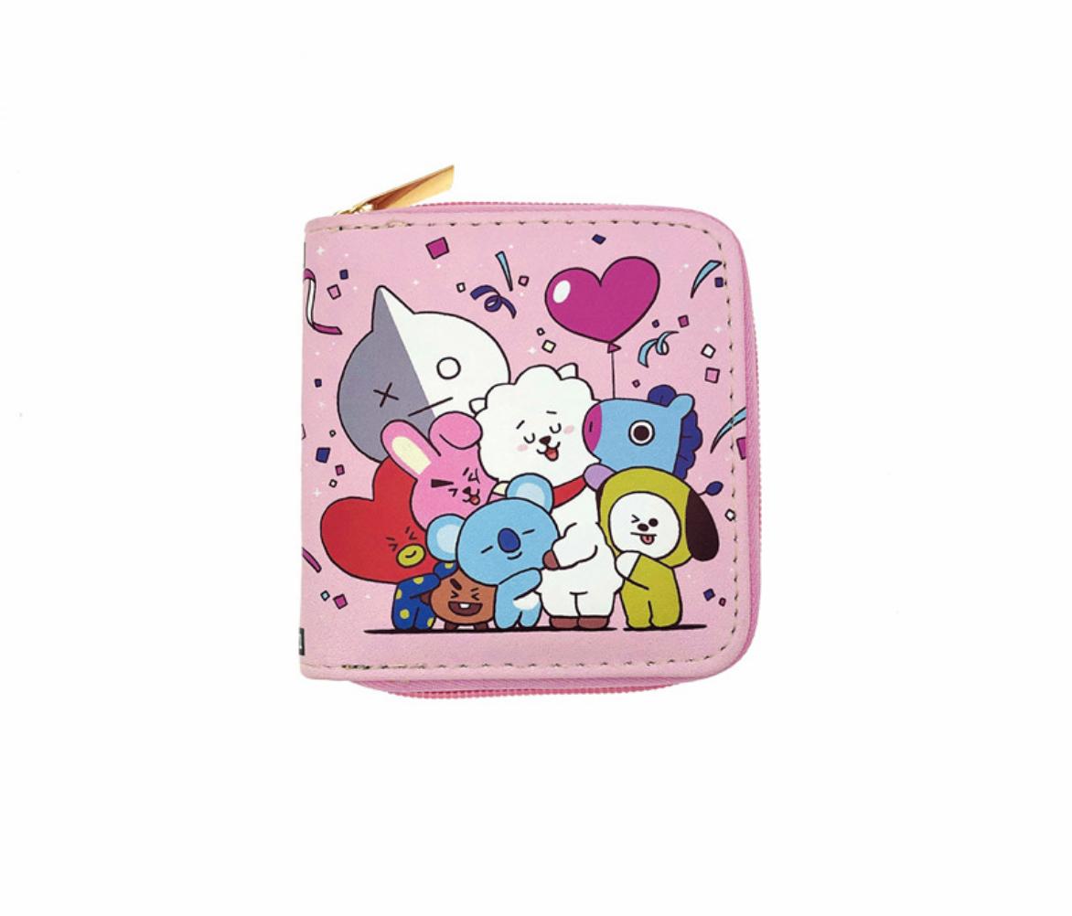 JR-408 BT21 Heart Wallet