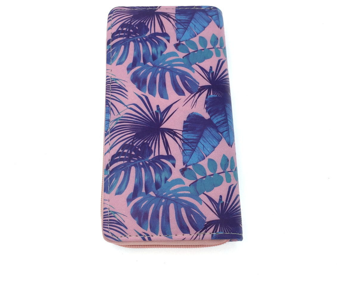 JR-336 Pink and Purple Palm Tree  Wallet