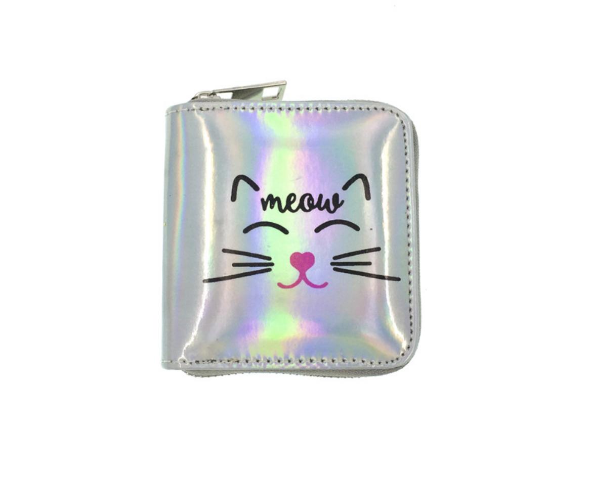 JR-349 Shiny Cat White Wallet