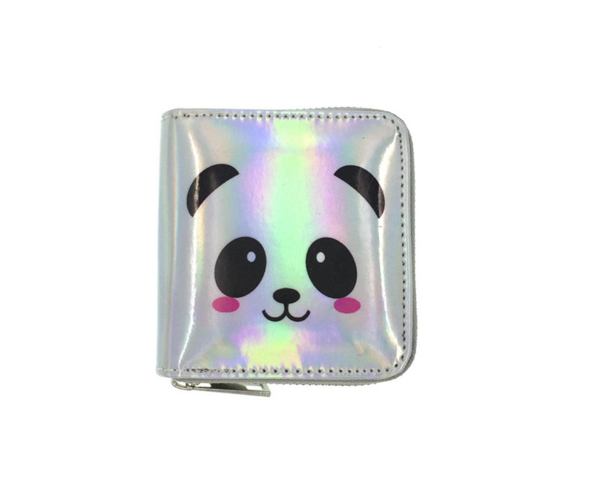 JR-349 Shiny Panda White Wallet
