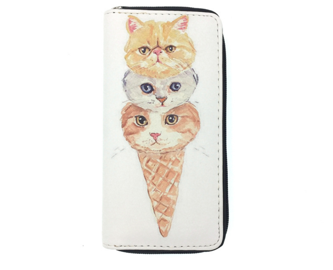 JR-048 Cat Cone Wallet