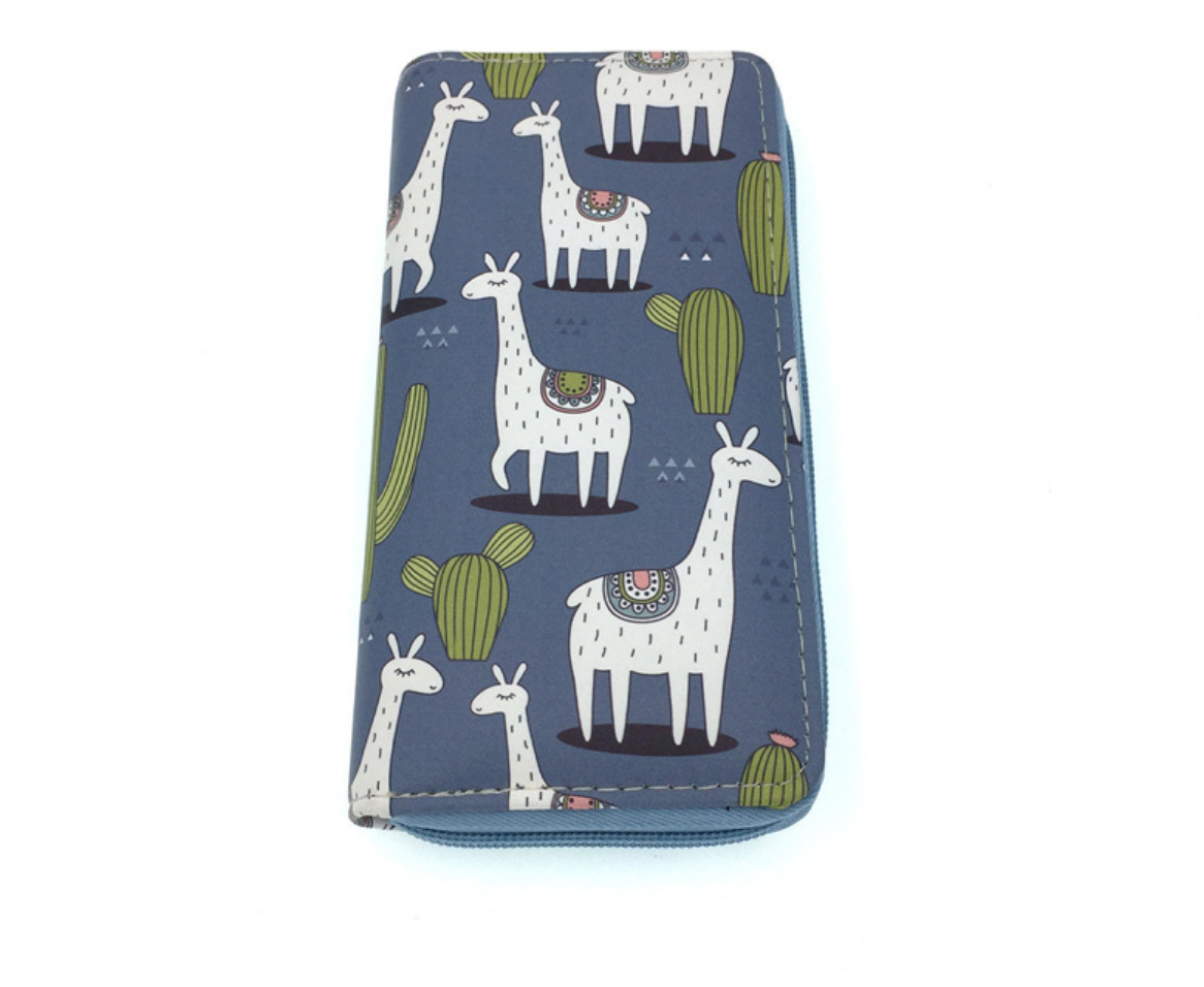 JR-338 Llama with Cactus Wallet