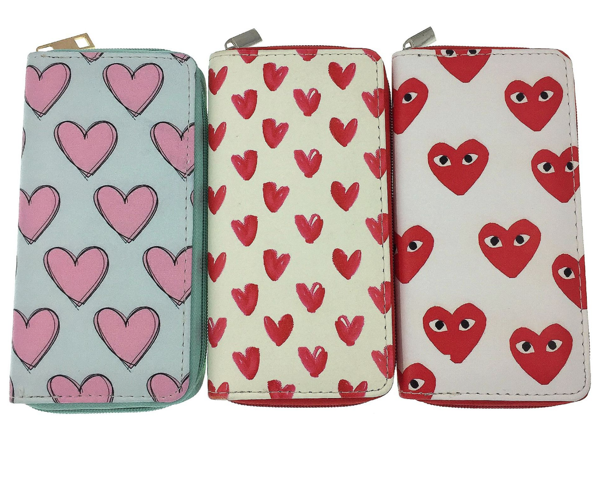 JR-009 Small Red Hearts Wallet
