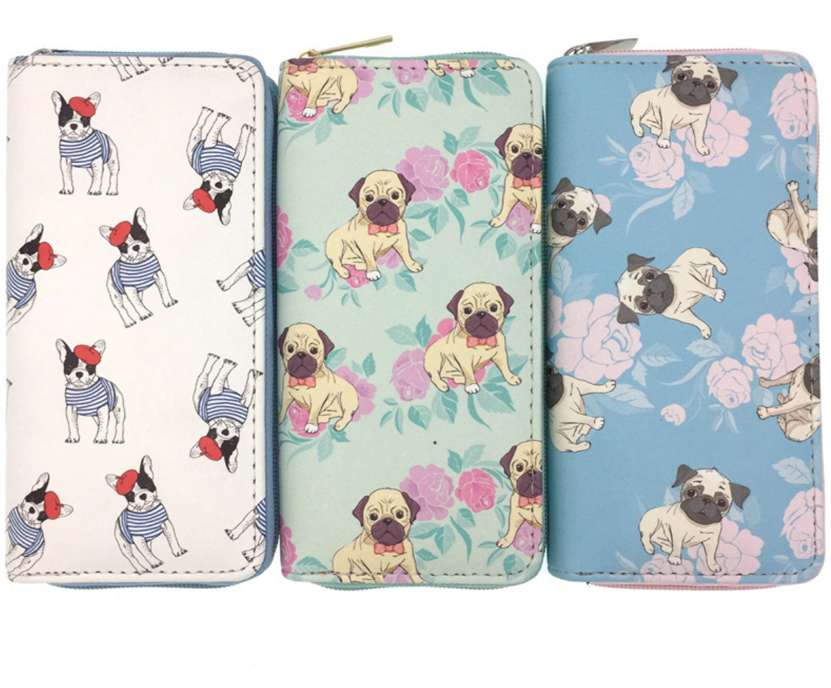 JR-076 French Pug Wallet