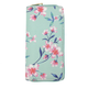 JR-258 Pink Flower on Green Wallet