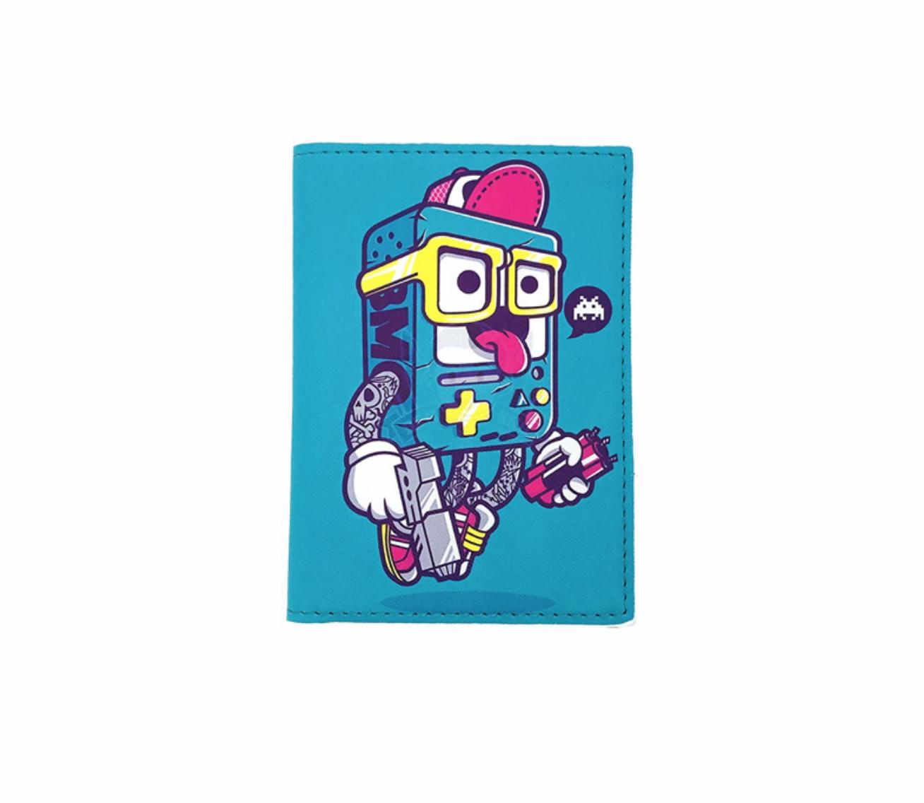 JR-433 Gangster Adventure Time Passport  Wallet