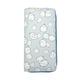 JR-432 White Little Rabbit Light Blue Wallet