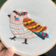 Tribal Bird 15cm Embroidery