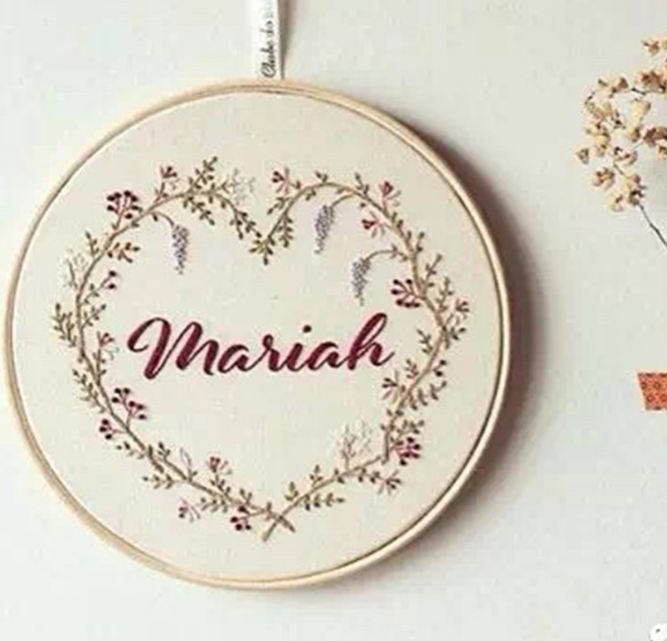 Mariah 15cm Embroidery