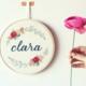 Blue Clara 15cm Embroidery