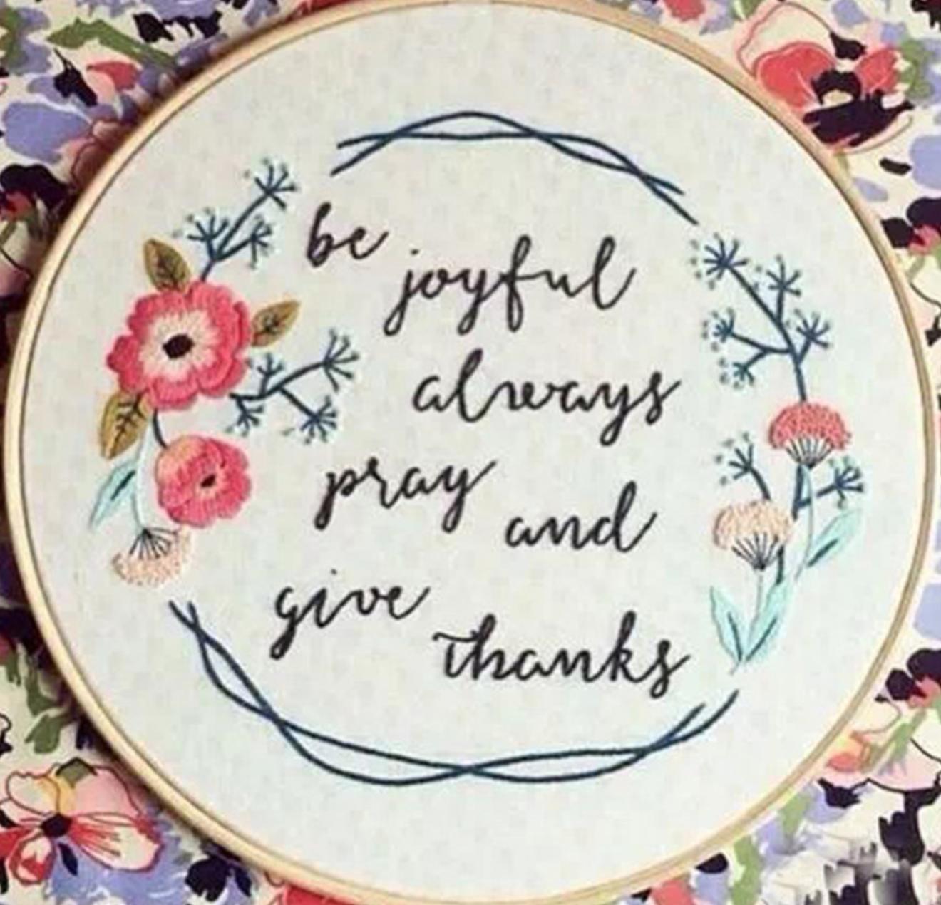 Be Joyful Always 15cm Embroidery