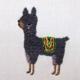 Llama Gray Embroidery