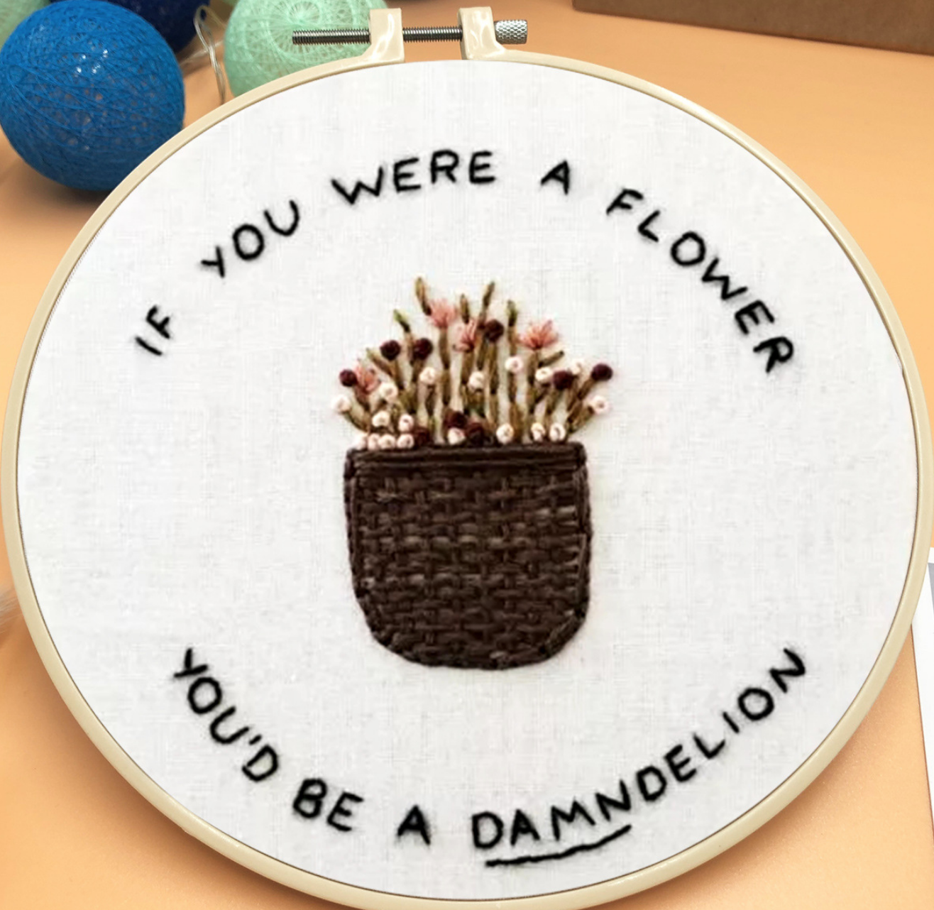 If You were a Flower Embroidery
