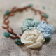 Small White/Blue/Green Flower Embroidery