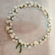 Little White Flowers Wreath Embroidery