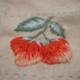 Red Strawberry Embrodiery