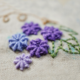 Purple Flowers Embroidery