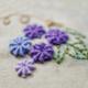 Purple Flowers Embroidery