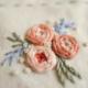 Orange Three Flower Embroidery