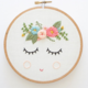 Smile Face with Head Wreath Embroidery