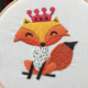 Fox with Crown Embroidery